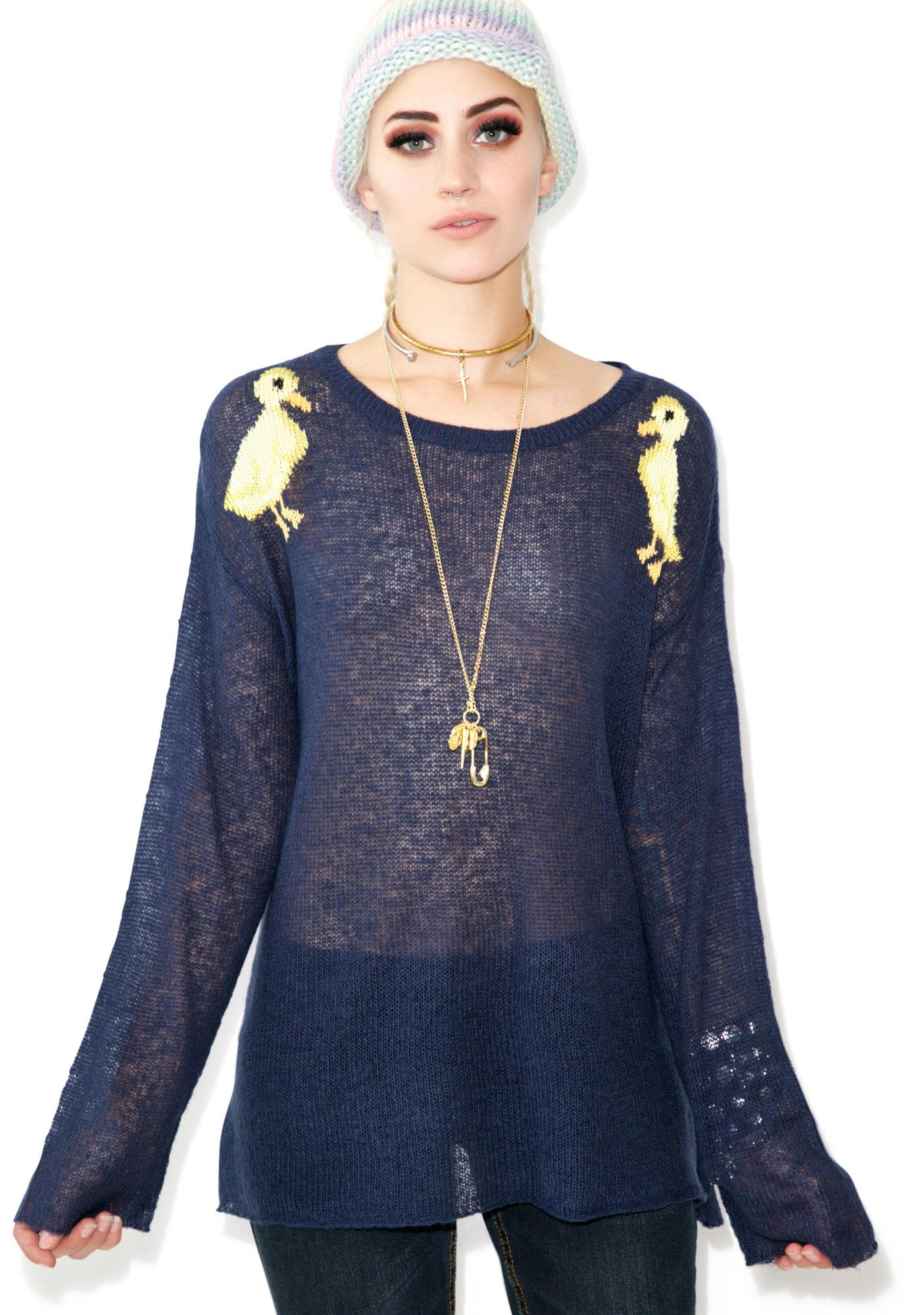 Wildfox Couture Ducklings Roadie Sweater