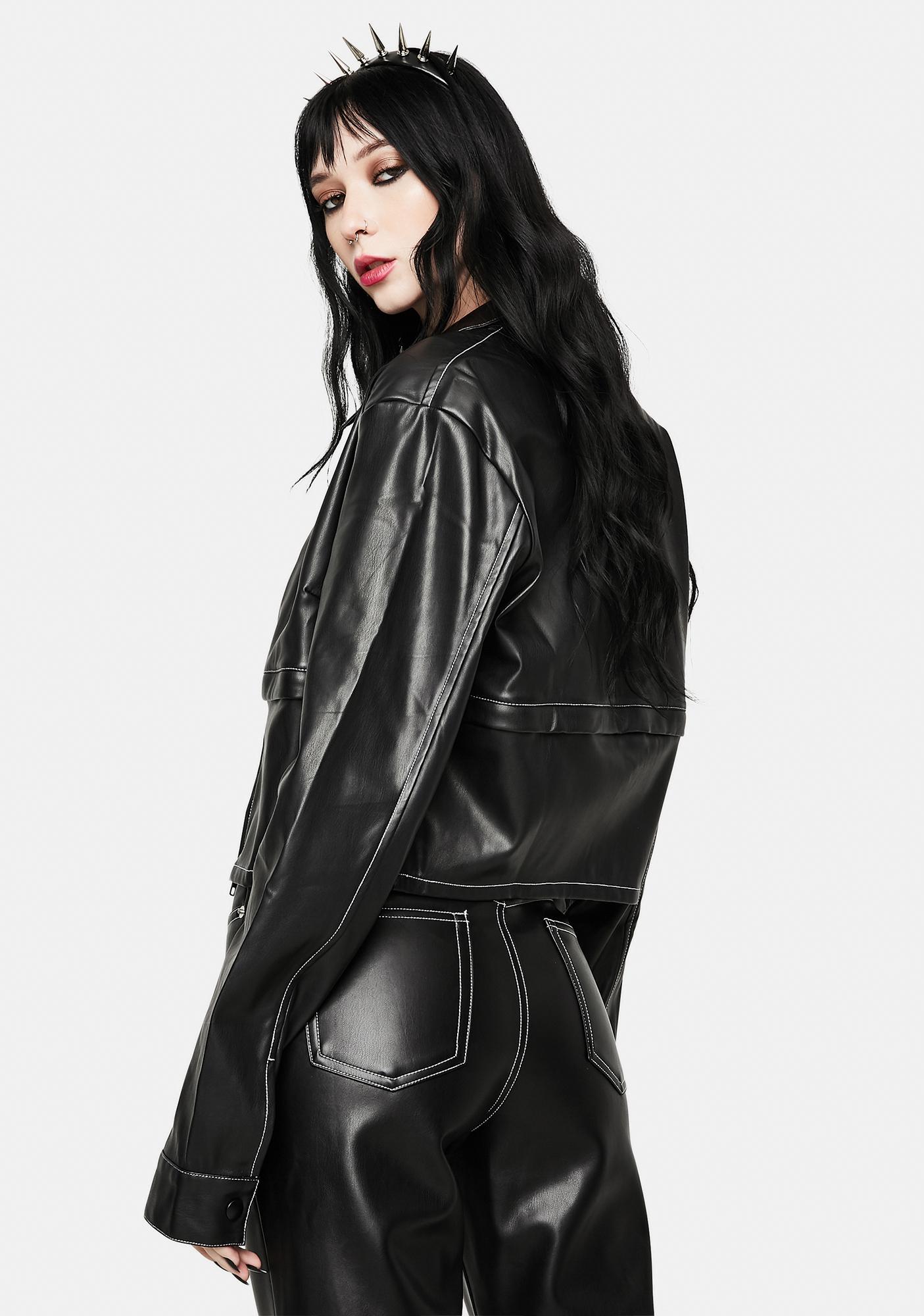 Nii HAi Detach Vegan Leather Jacket