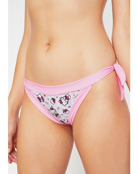 x Hello Kitty Stripe Bikini Bottoms