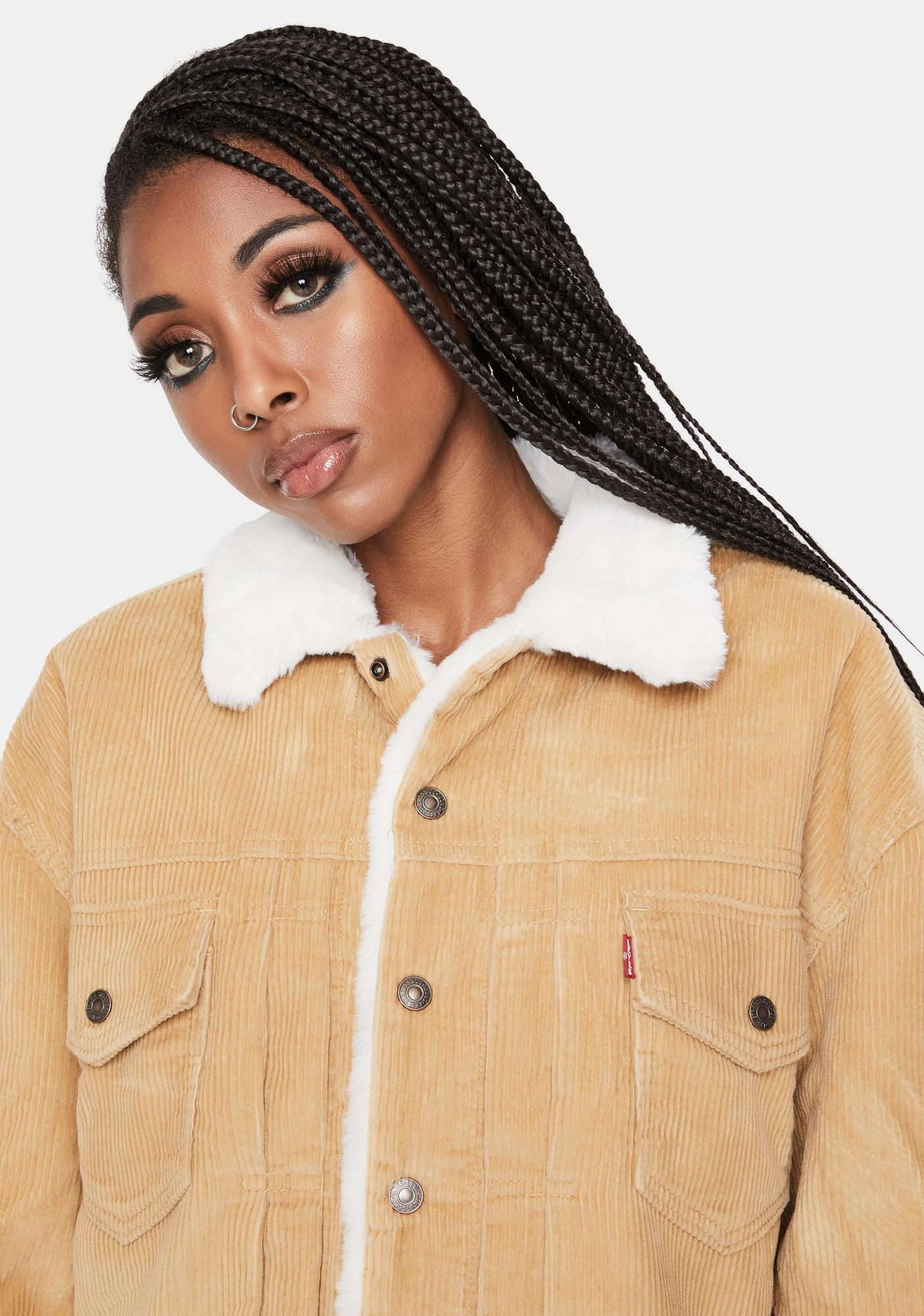 Levis Iced Coffee New Heritage Cord Trucker Jacket