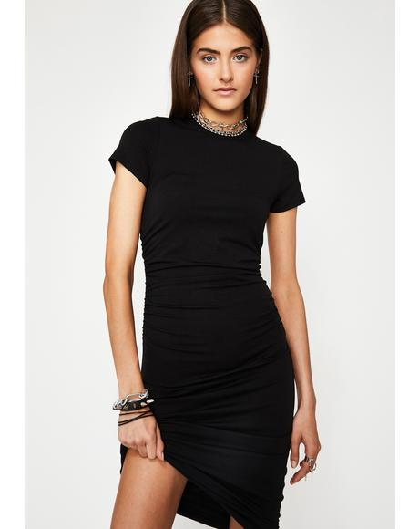 Hello Goodbye Ruched Dress