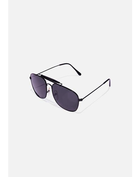 Smoke Navigator Aviator Sunglasses