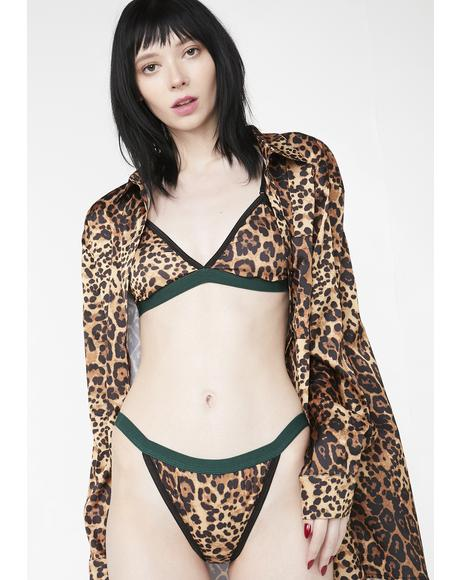 Leopard Black Tapes Panty