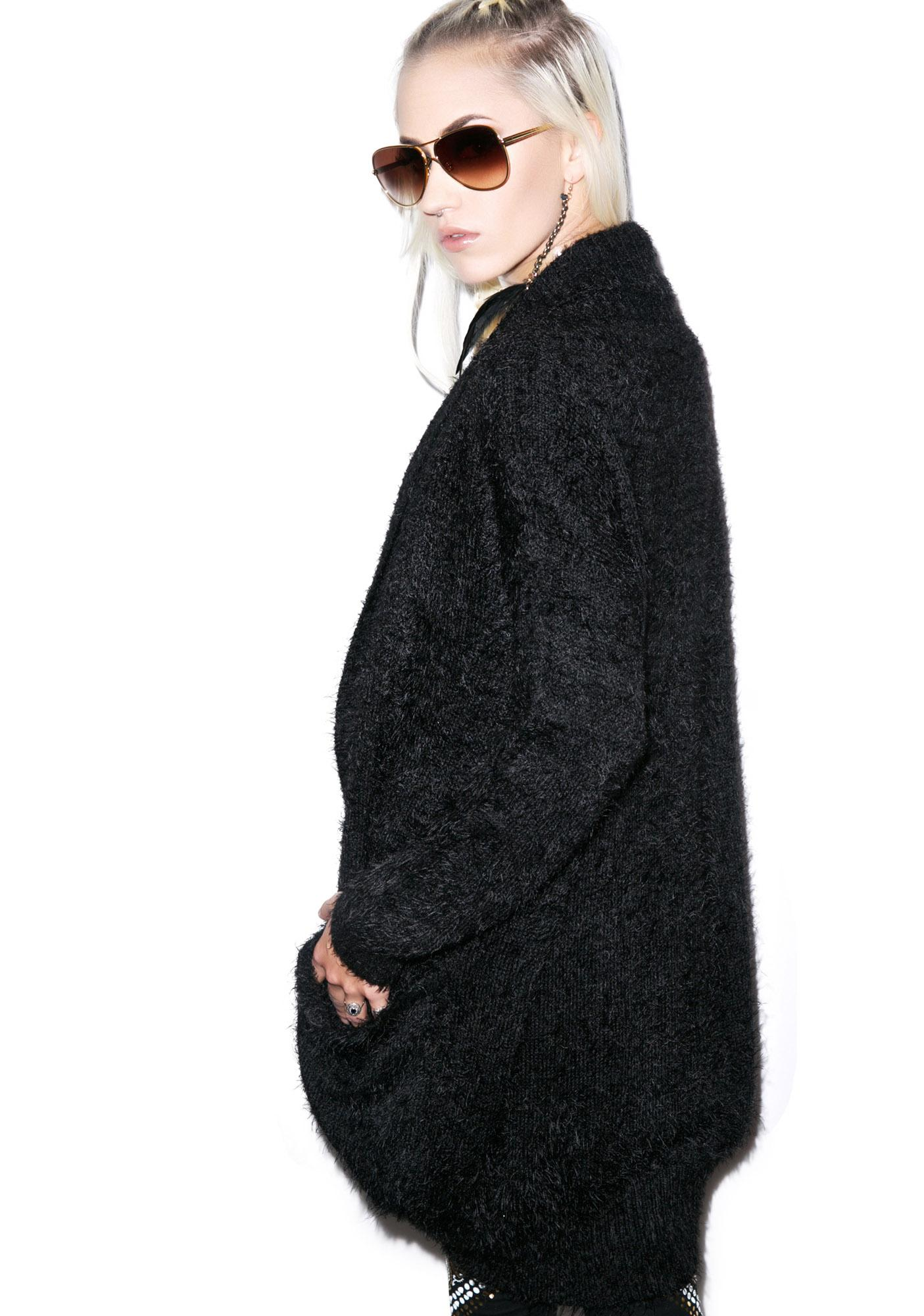 Mink Pink Fuzzy Cocoon Cardigan