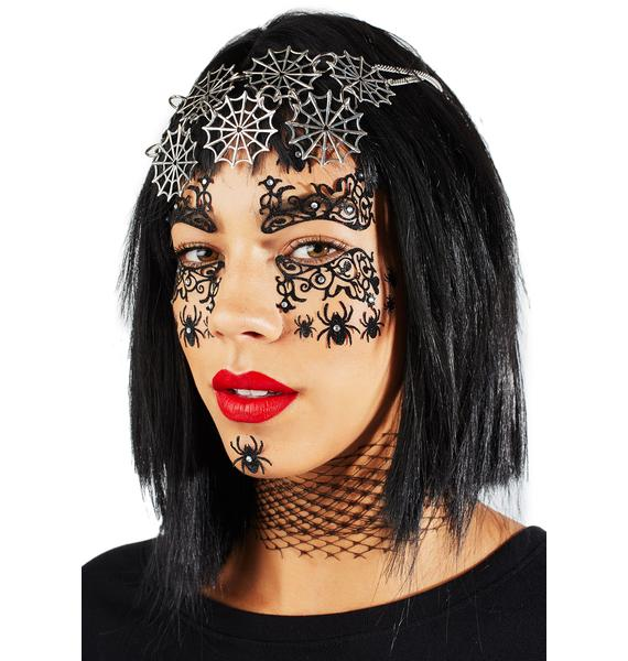 Love And Madness Spider Queen Face Jewels