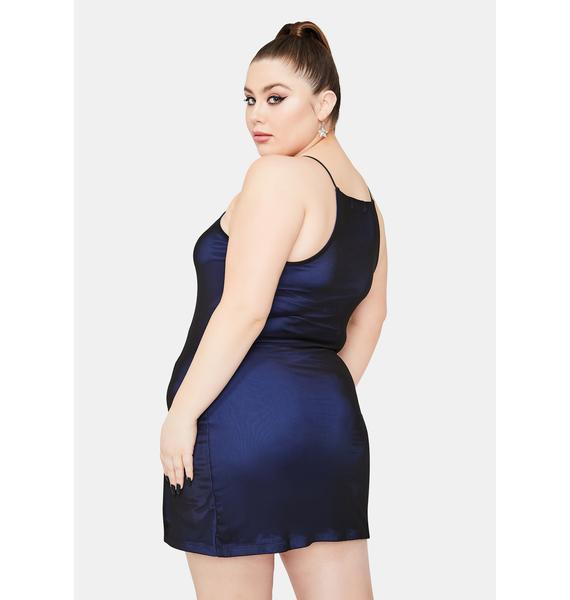 HOROSCOPEZ I'm Tossing And Turning Satin Mini Dress