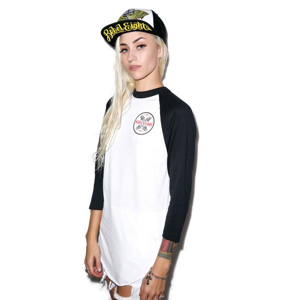 Rebel8 Crossed Fingers Raglan