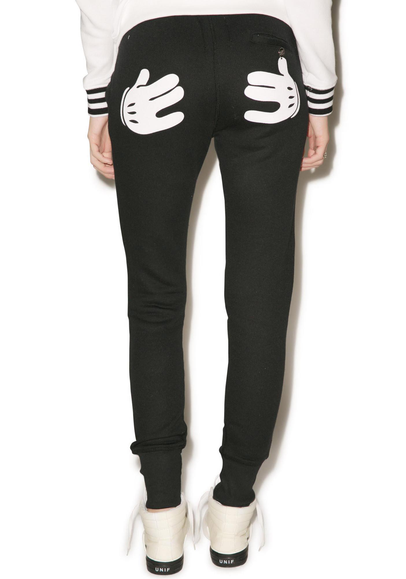 Zoe Karssen Cartoon Hands Slim Fit Sweat Pants