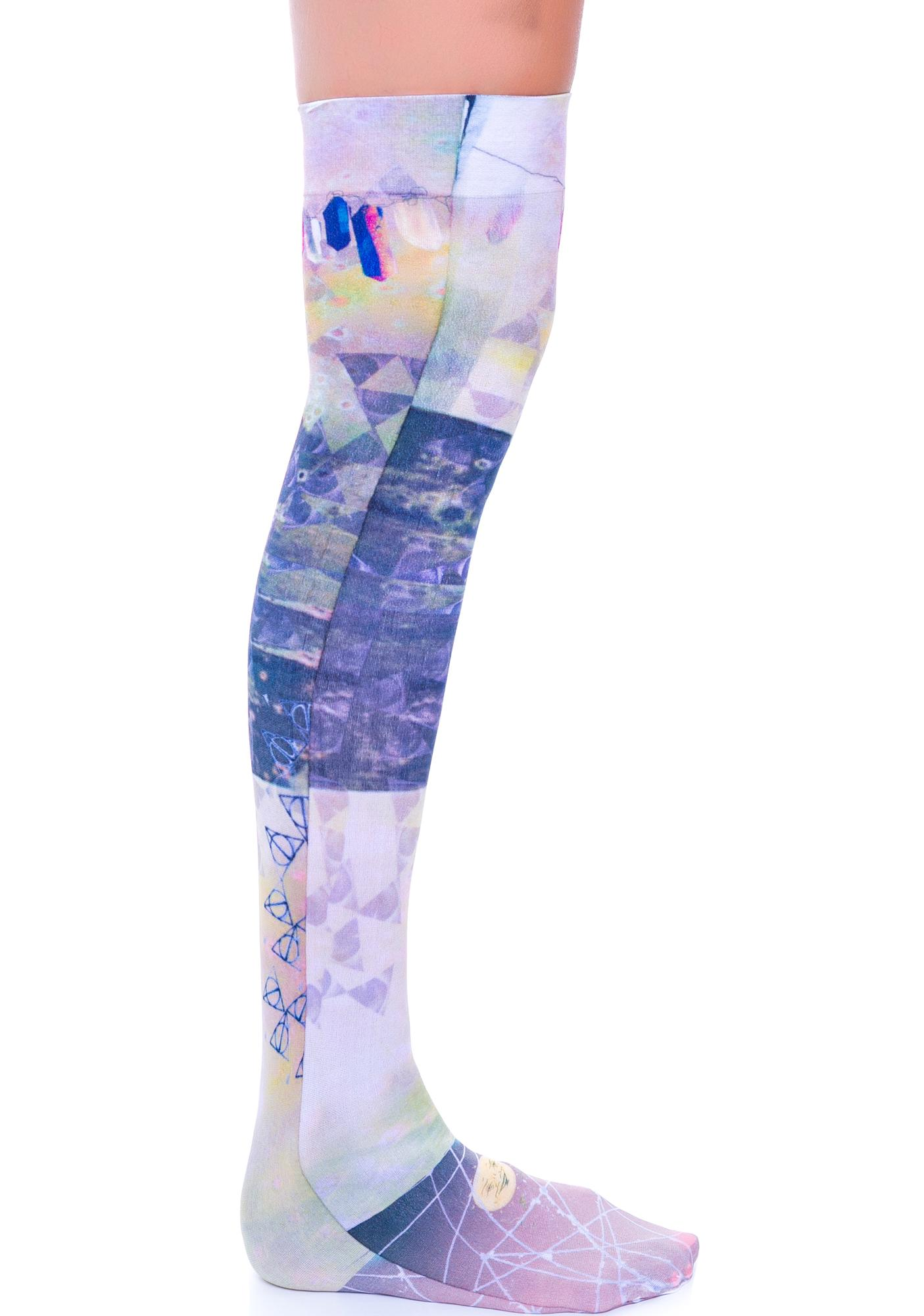 Private Arts White Magic Thigh High Sox