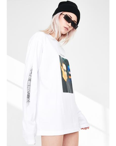 White Matrix Long Sleeve Tee