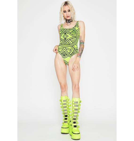 Acid Blurred Visionz Sheer Bodysuit