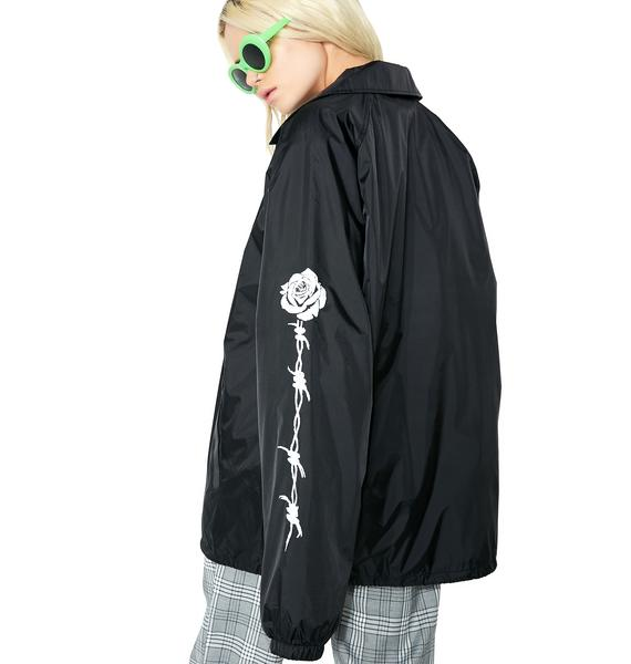Petals and Peacocks Barb Rose Track Jacket