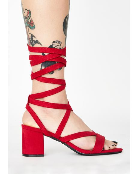 Hot Just A Preview Wrap Heels