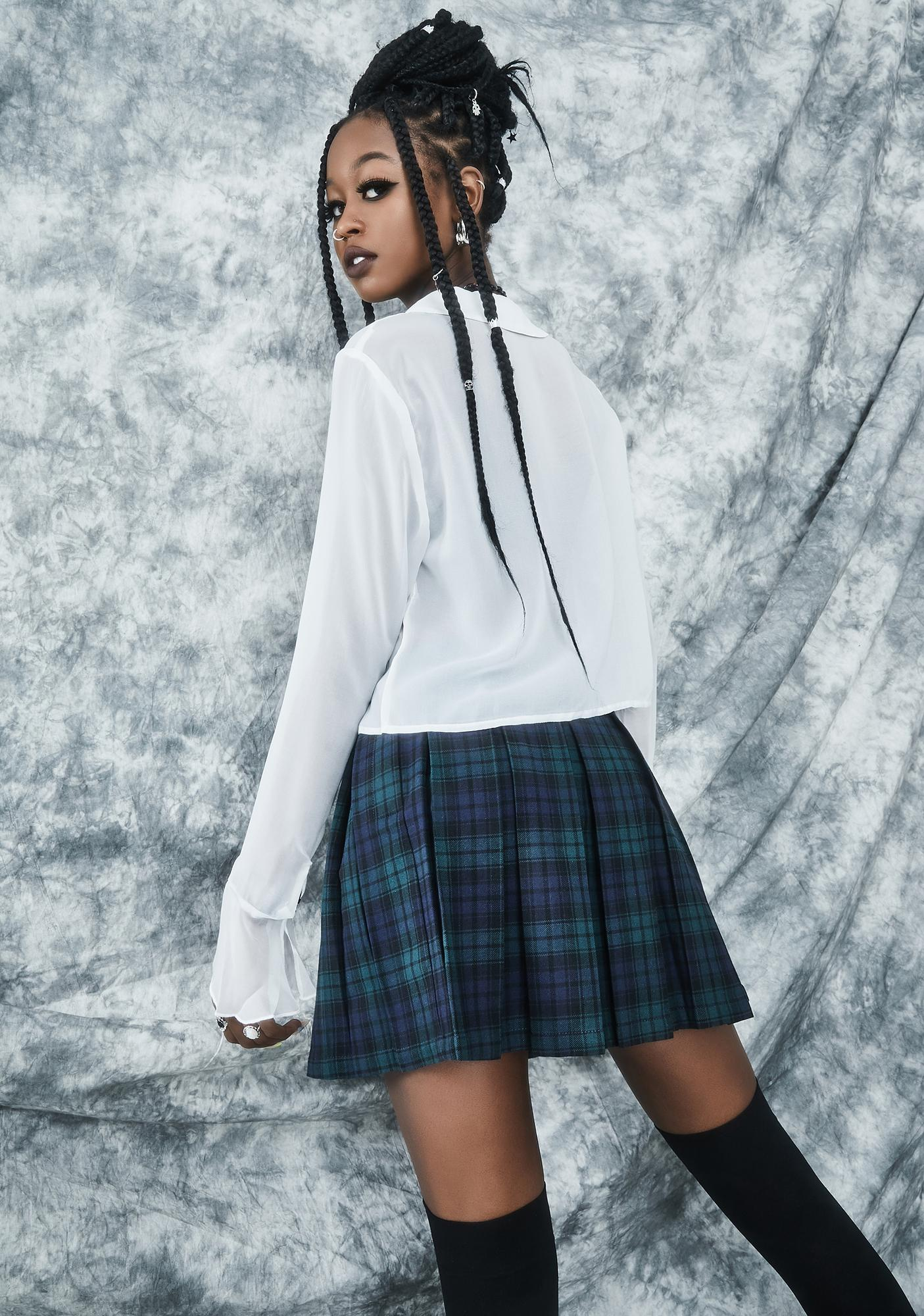dELiA*s by Dolls Kill High School Hexes Plaid Pleated Skirt