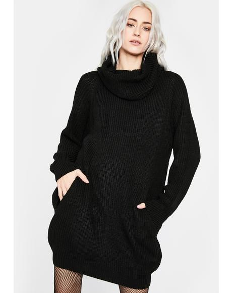 Somber Songs Sweater Dress