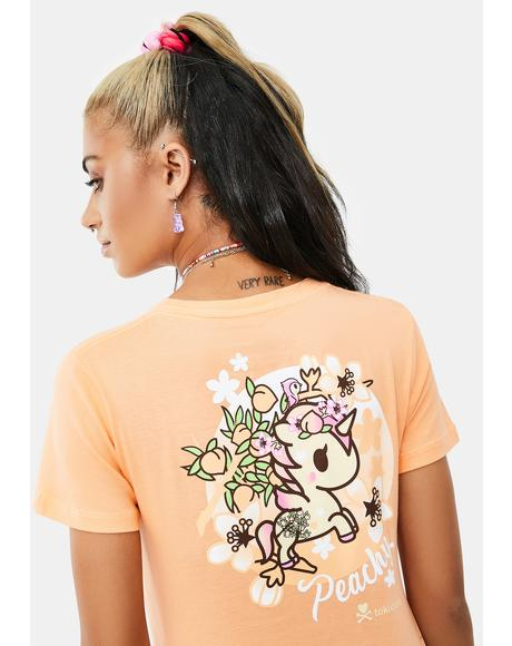Just Peachy Short Sleeve Graphic Tee