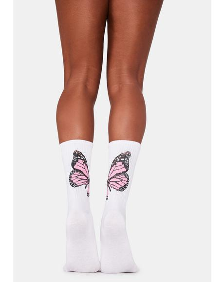 Lady Swallowtail Sweetness Crew Socks