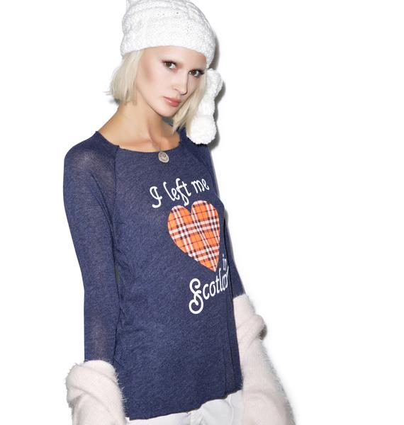 Wildfox Couture My Scottish Heart Cozy Raglan