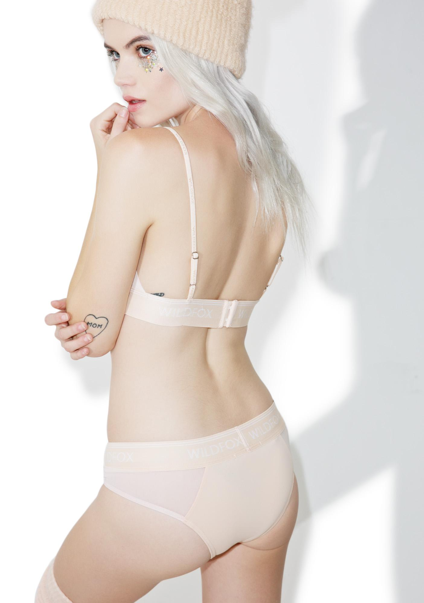 Wildfox Couture Peachy Mesh Hipster Brief