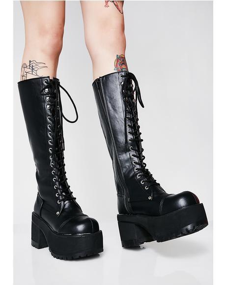 Lurkin' On Ya Platform Boots