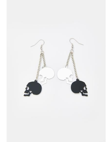 Night Creeper Skull Earrings