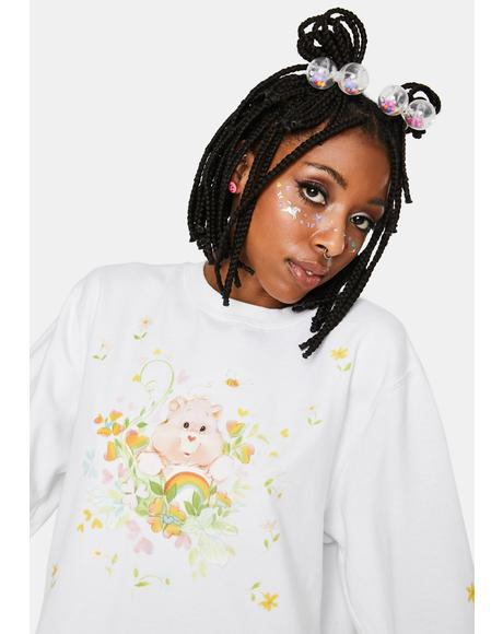 Cheer Bear Garden Crewneck Sweatshirt