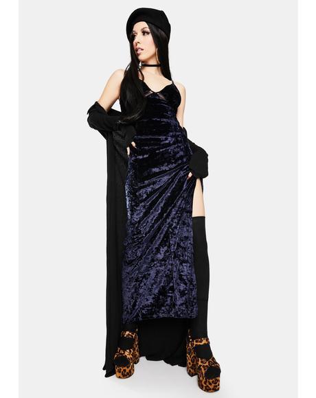 Low Key Crushin' Velvet Maxi Slip Dress