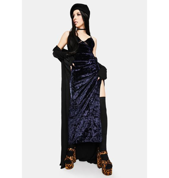 Free People Low Key Crushin' Velvet Maxi Slip Dress
