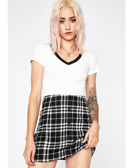 Lonely In Love Plaid Skirt