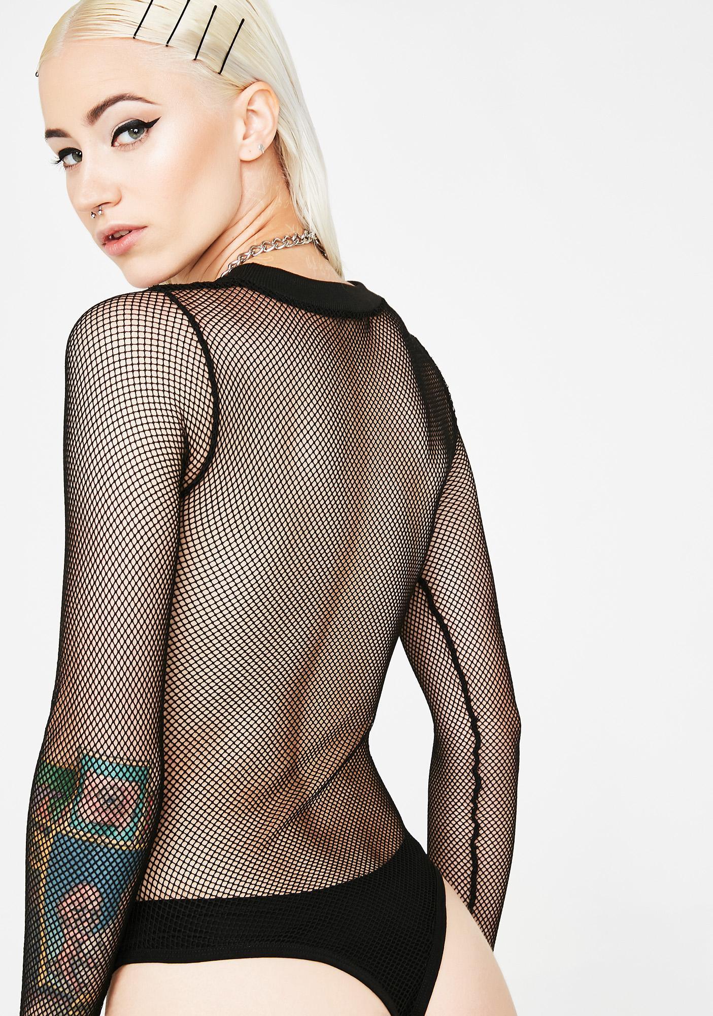 Current Mood Censor This Fishnet Bodysuit