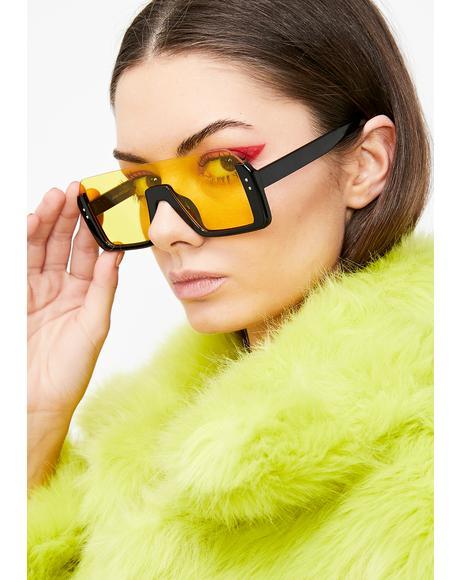 Honey Cut Off Oversized Sunglasses
