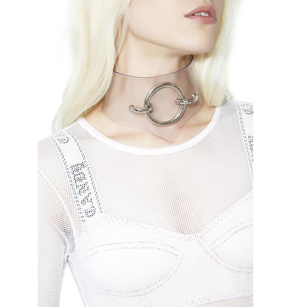Control Freak Clear O-Ring Choker