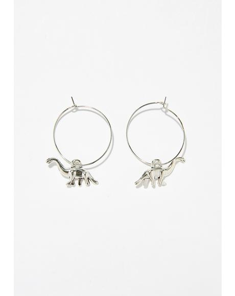 Prehistoric Baddie Hoop Earrings