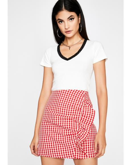 Diner Dream Girl Gingham Skirt