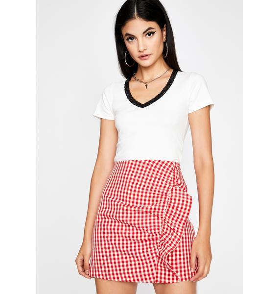 Diner Dream Girl Gingham Skirt
