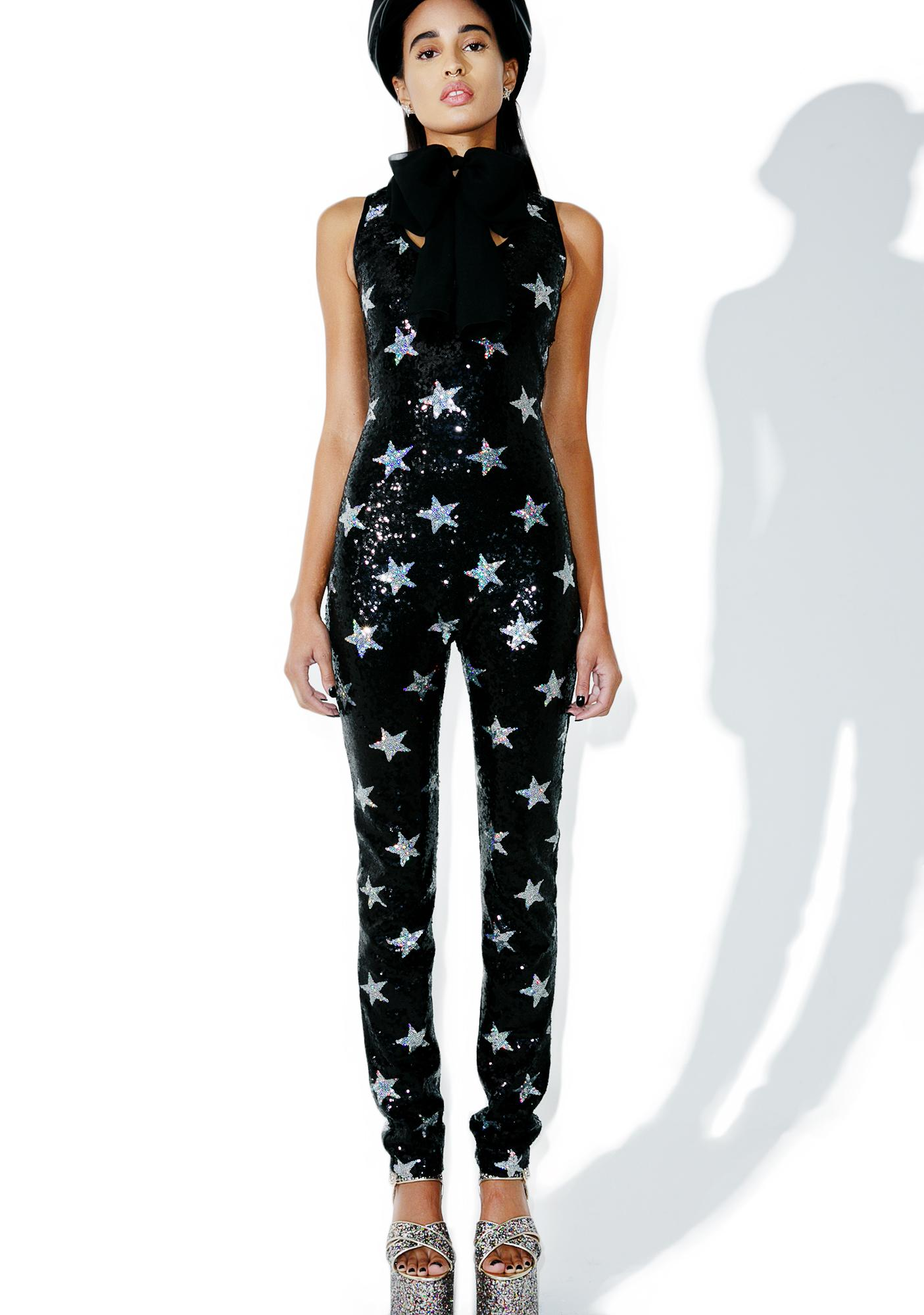 Jaded London Endless Starz Sequin Jumpsuit