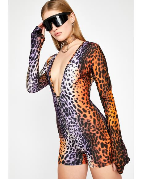 Wild Visions Leopard Romper