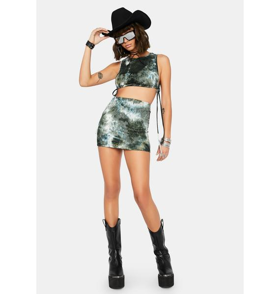 Work Through It Tie Dye Skirt Set