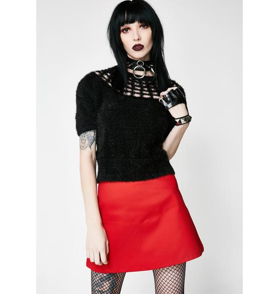 Killstar Nexus Fuzzy Sweater