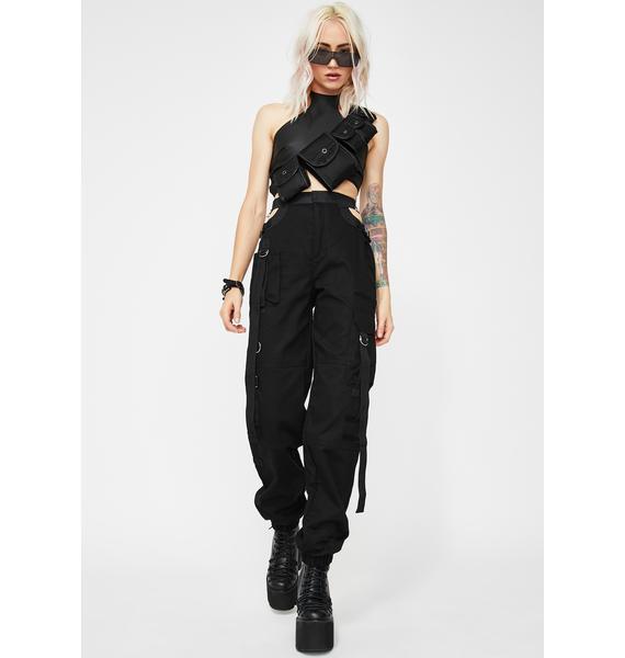 Namilia Black Bumster Pants