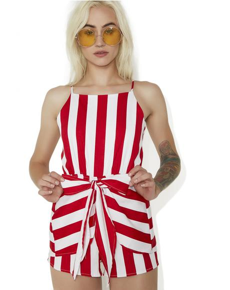 Sweet Tooth Striped Romper