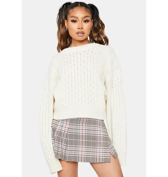 Signed Grades Cable Knit Sweater