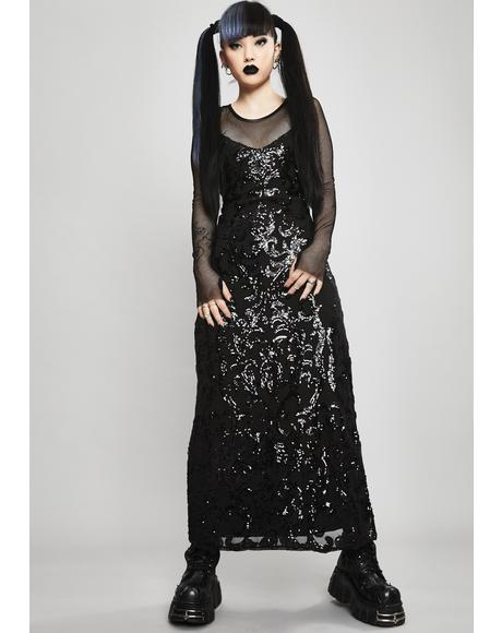 Cryptic Moonlight Sequin Dress