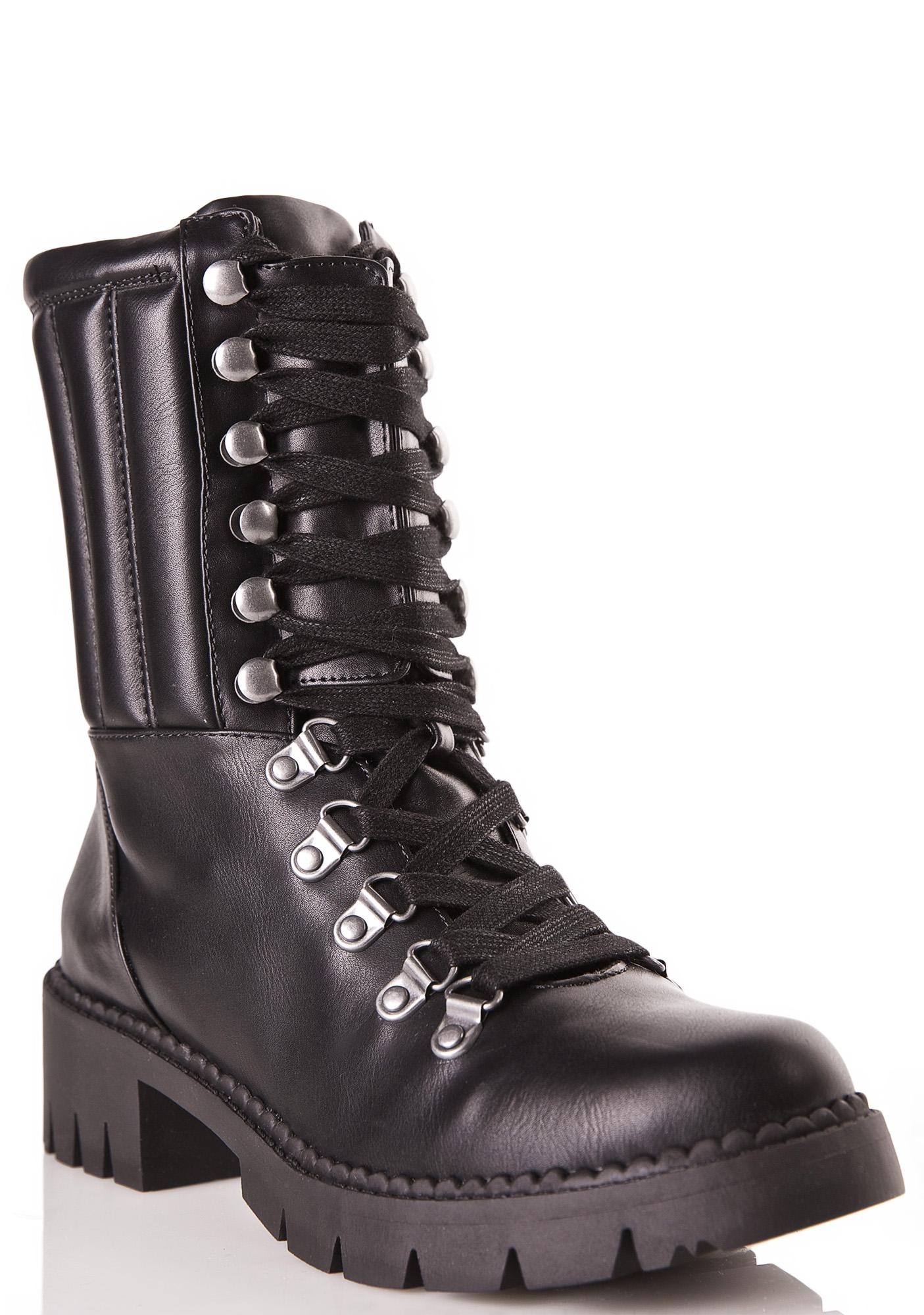 105eb0d078 Lust For Life Abbey Lace-Up Combat Boots | Dolls Kill
