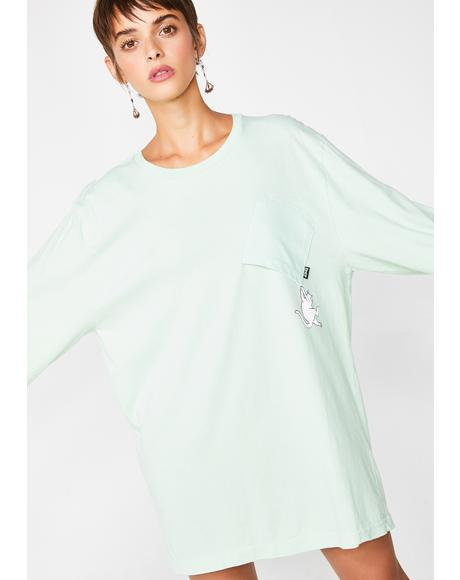 Mint Hang In There Long Sleeve