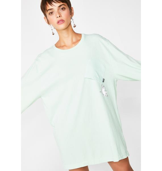 RIPNDIP Mint Hang In There Long Sleeve