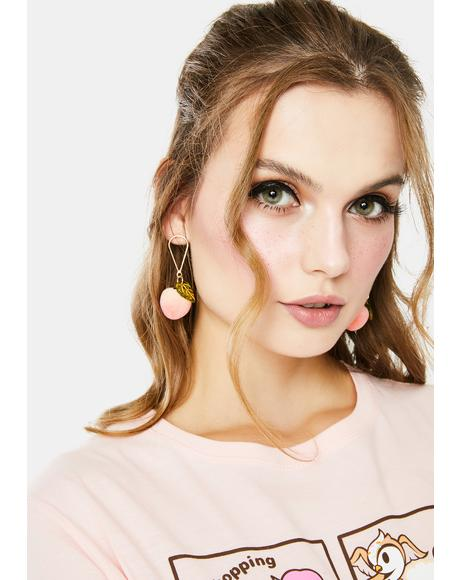 Peachy Keen Drop Earrings