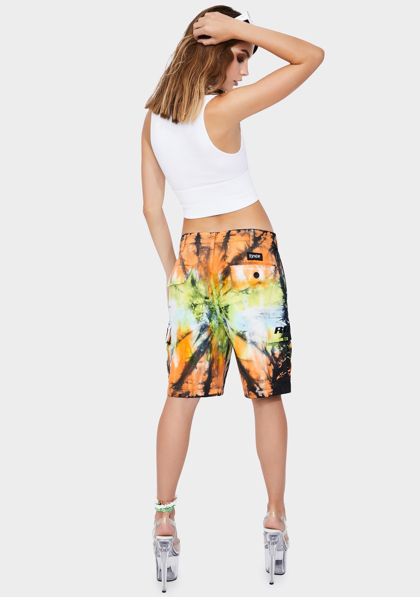 RIPNDIP Sunburst Cargo Shorts