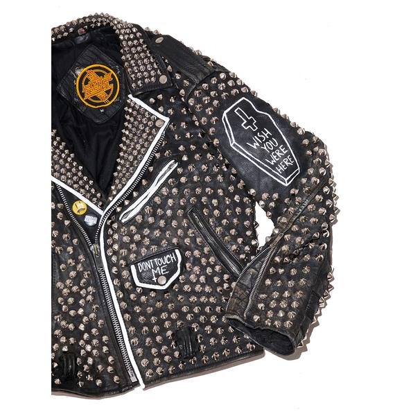 Hazmat Design Vintage Deadstock Last Rocker Leather Jacket