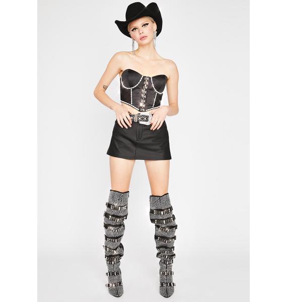Rhinestone Cowgirl Corset Top